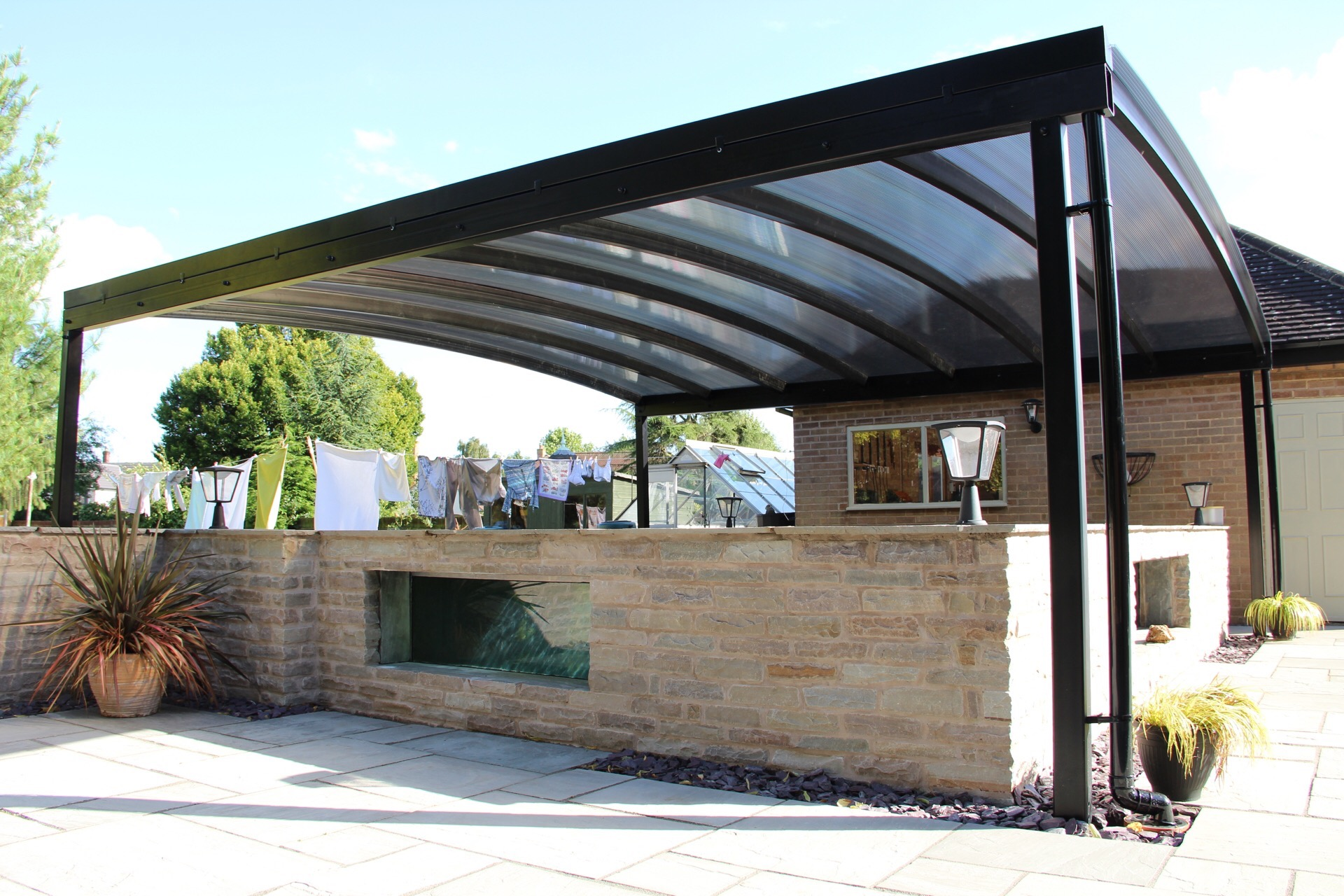 Canopies And Carports : Koi pond canopy installed in derbyshire kappion carports