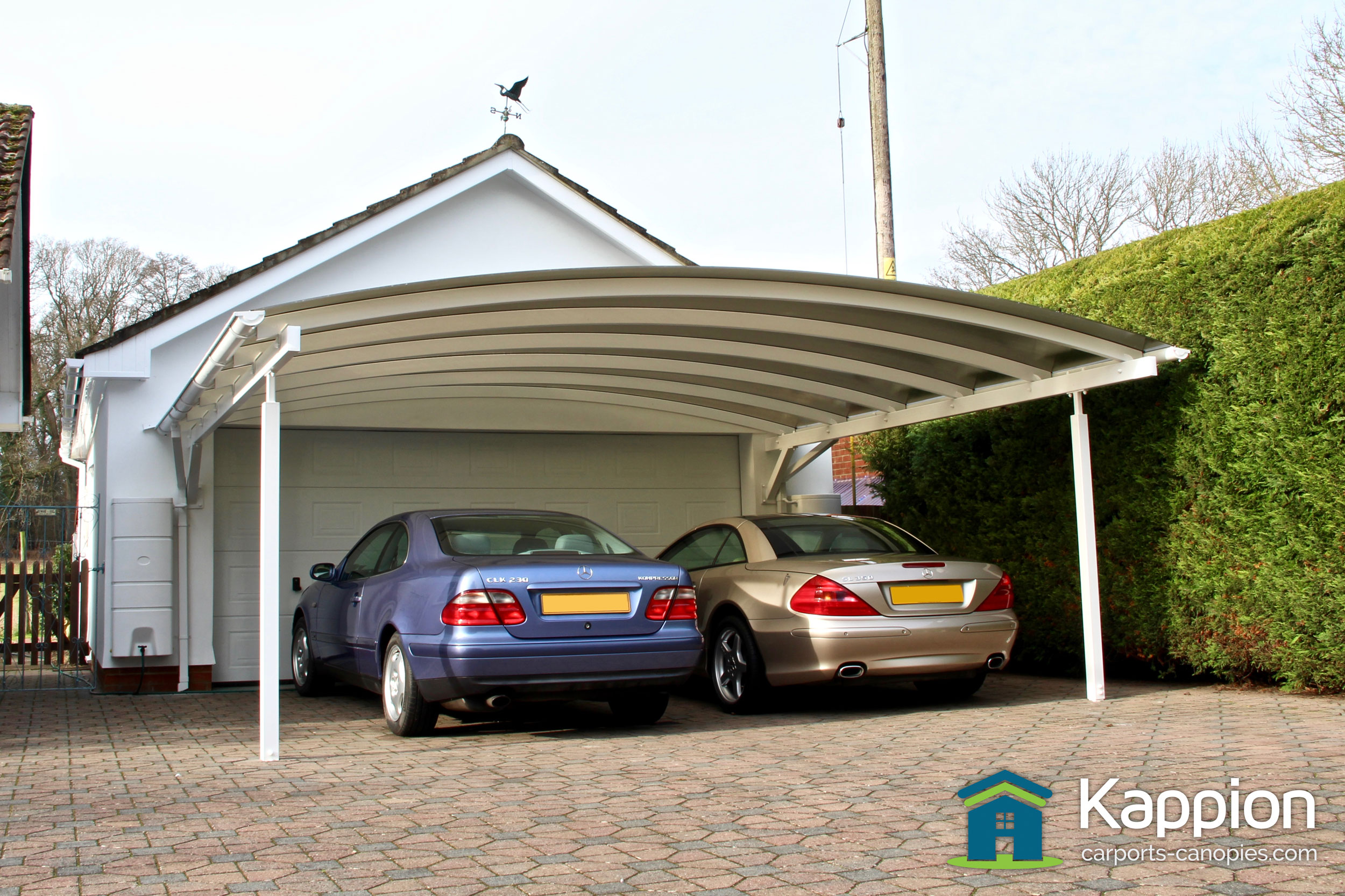 double carport canopy installed in salisbury kappion carports canopies. Black Bedroom Furniture Sets. Home Design Ideas