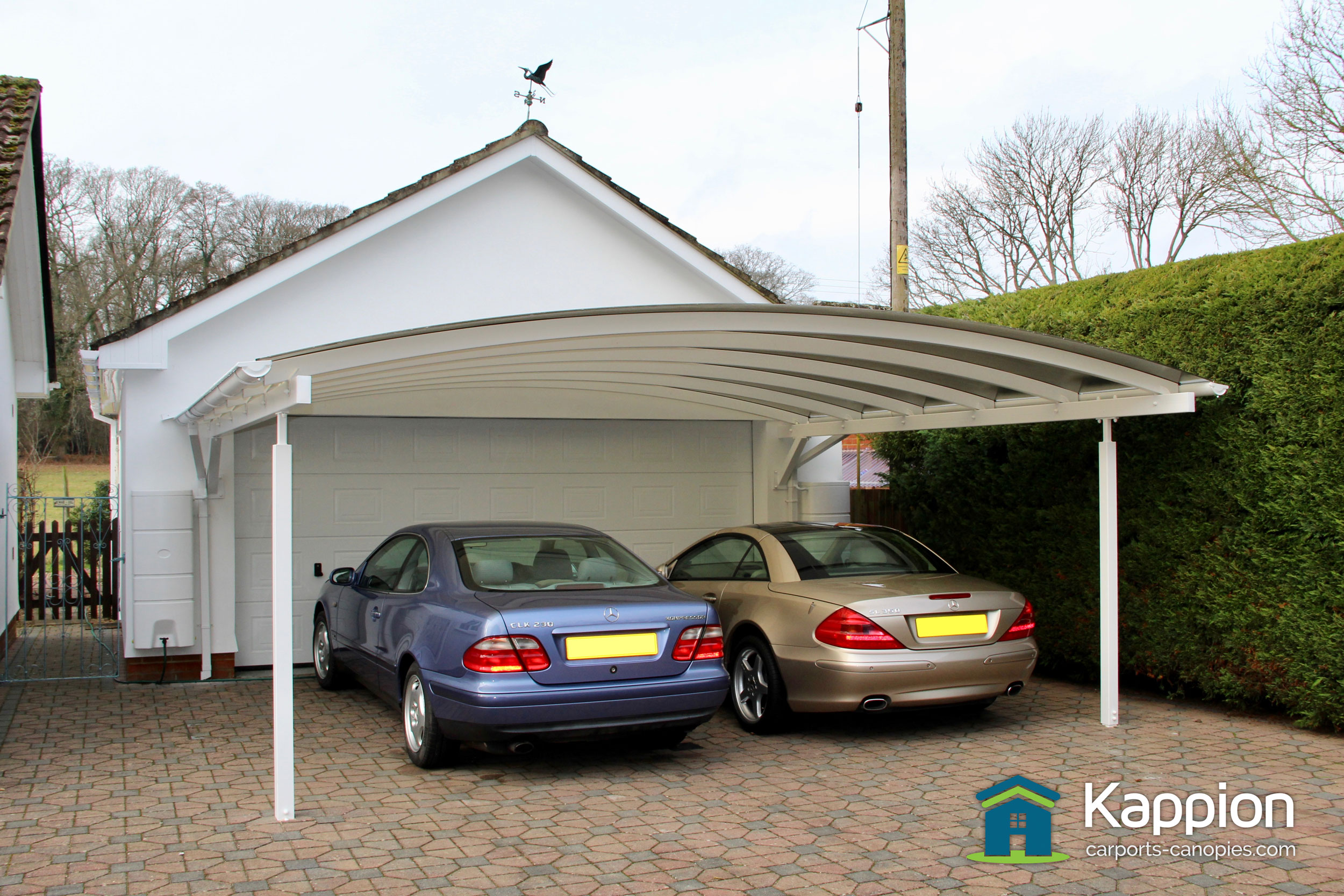Awnings For Cars : Double carport canopy installed in salisbury kappion