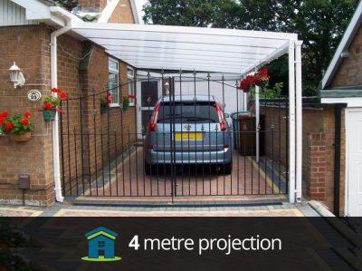 4 Metre Projection LivingLife Carport Canopy