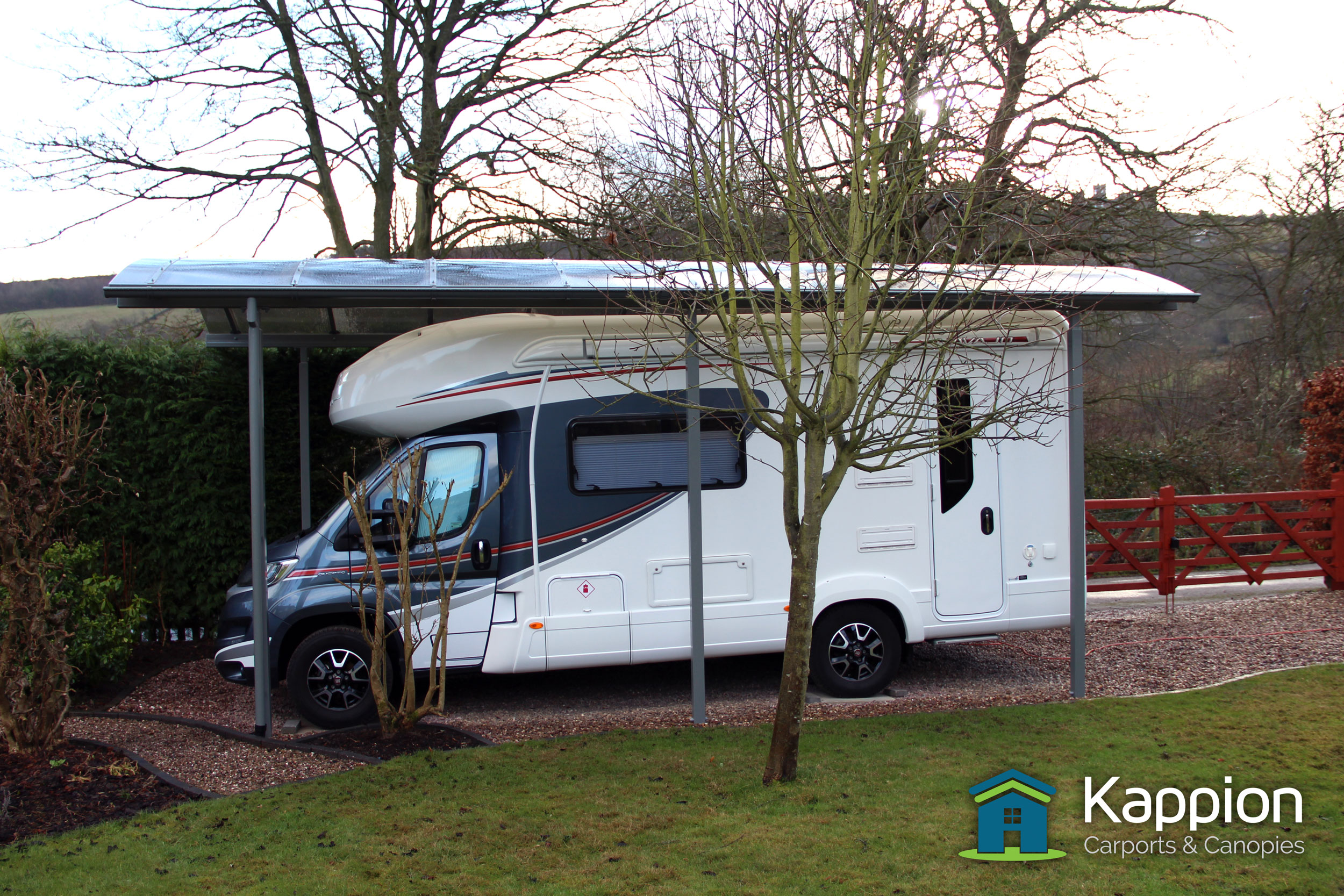 Motorhome canopy installed matlock kappion carports for Carports for motorhomes