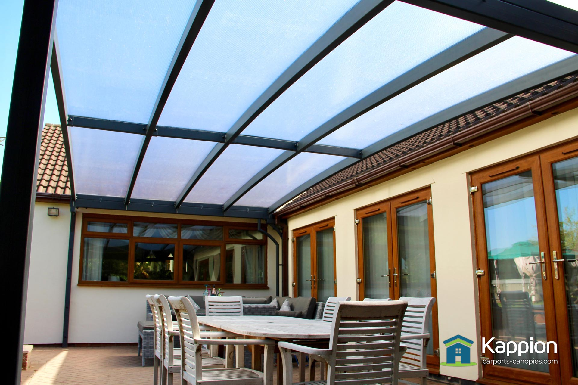 Garden Patio Canopy Installed In Rugby Kappion Carports
