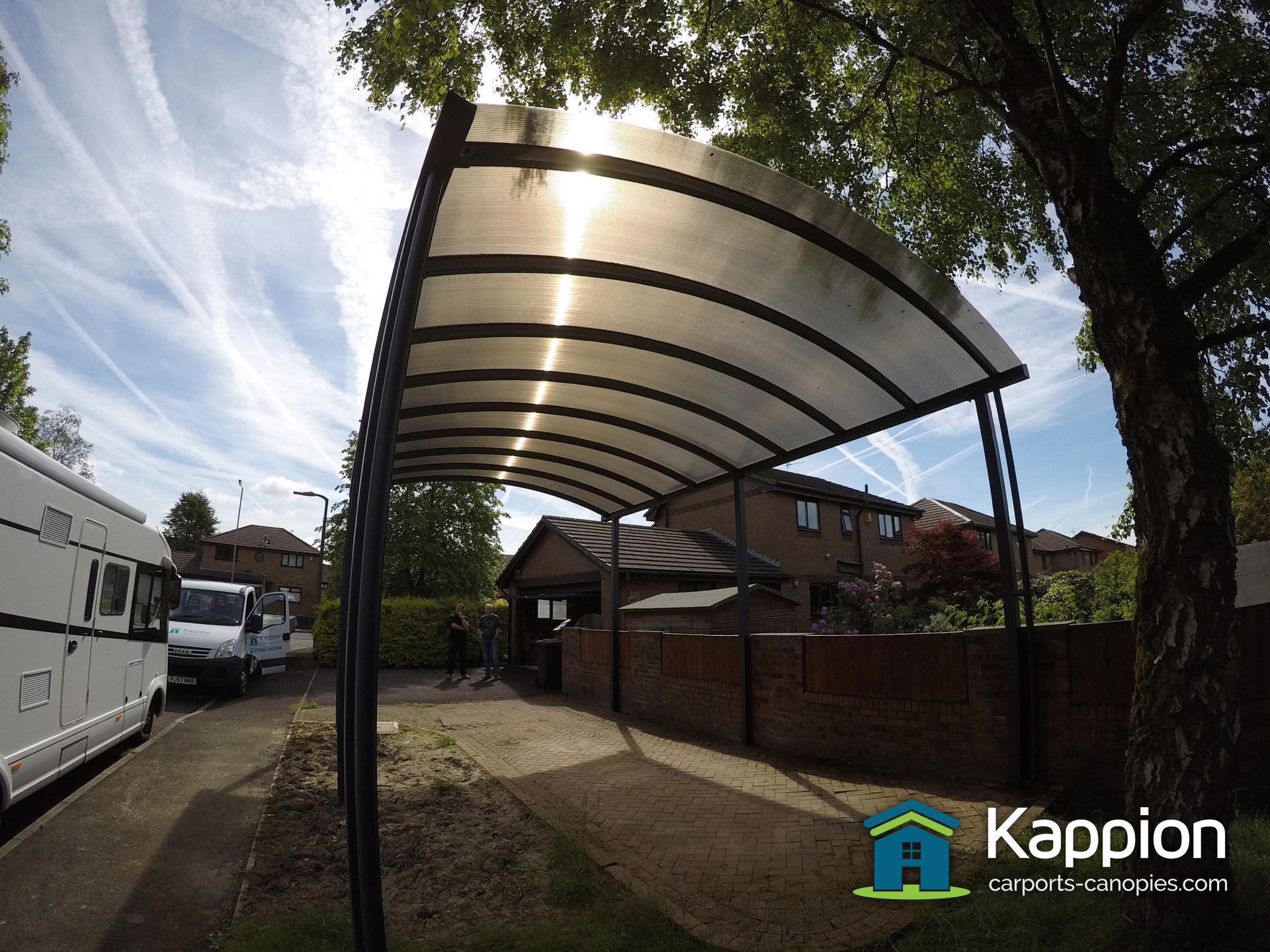 Motorhome Canopy Installed Manchester | Kappion Carports ...