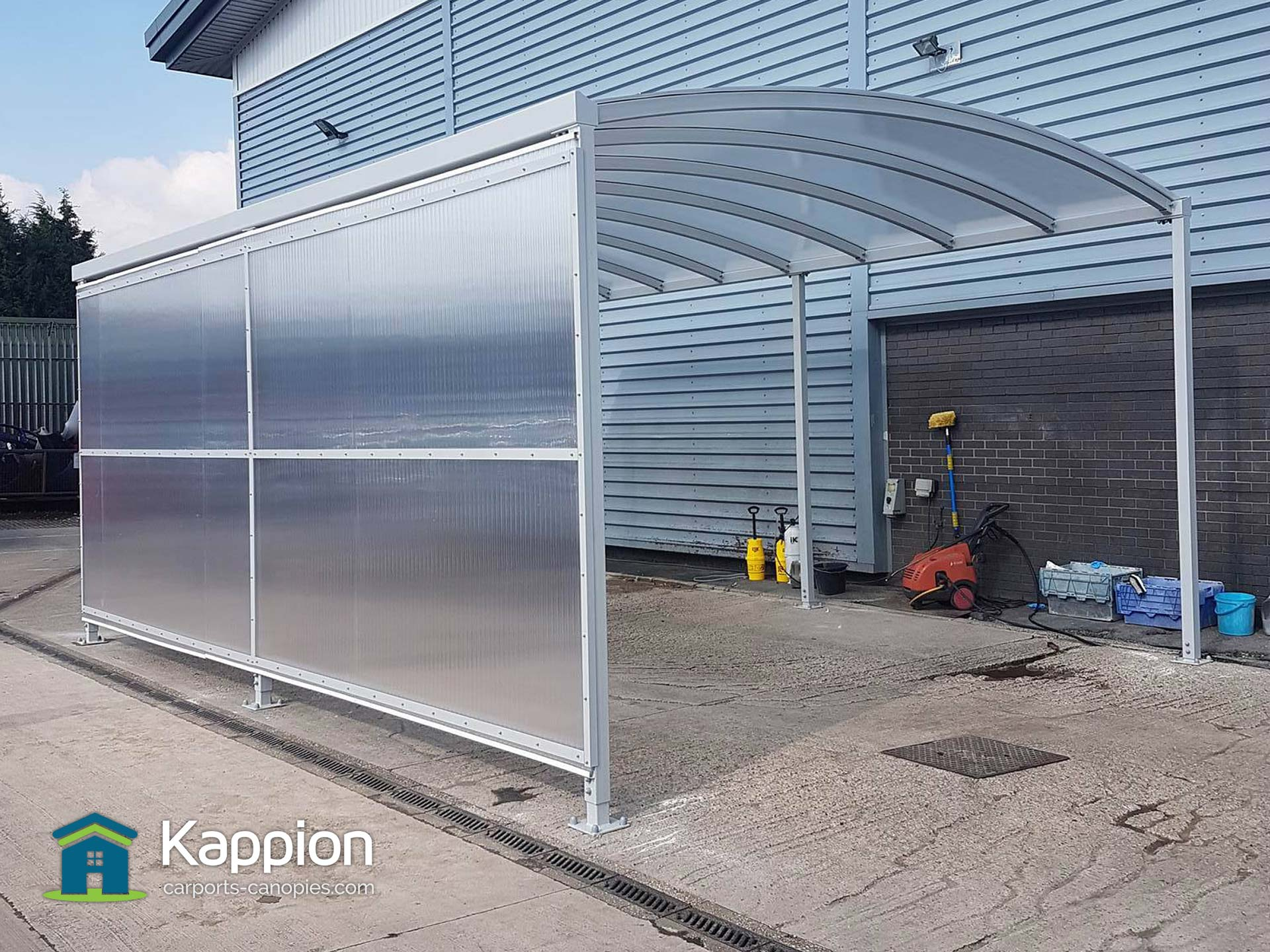 Portable Awning Car Detailing : Car wash canopy archives kappion carports canopies