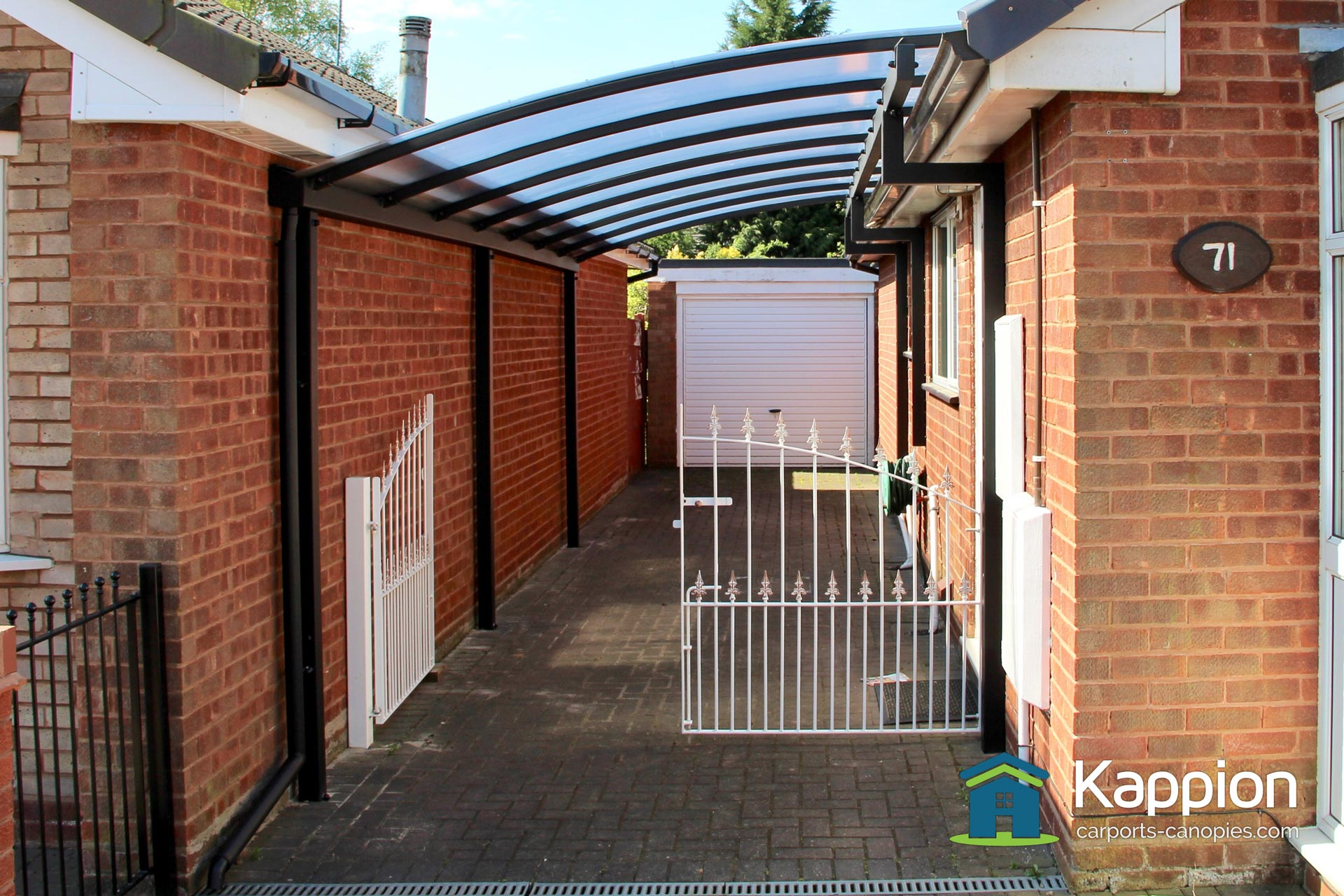 bungalow carport installed in cannock kappion carports