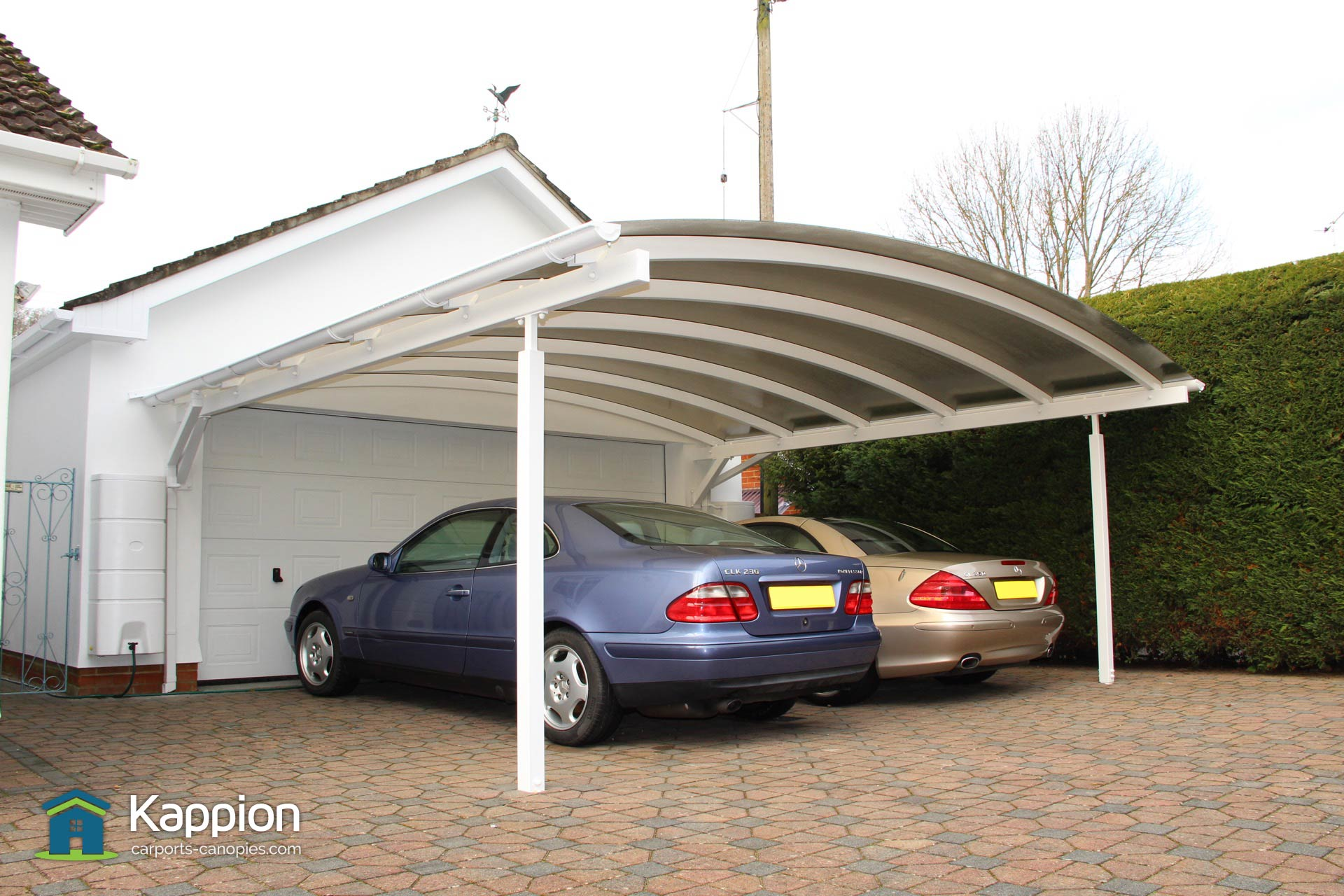 double carport the ultimate two car canopy kappion carports canopies. Black Bedroom Furniture Sets. Home Design Ideas
