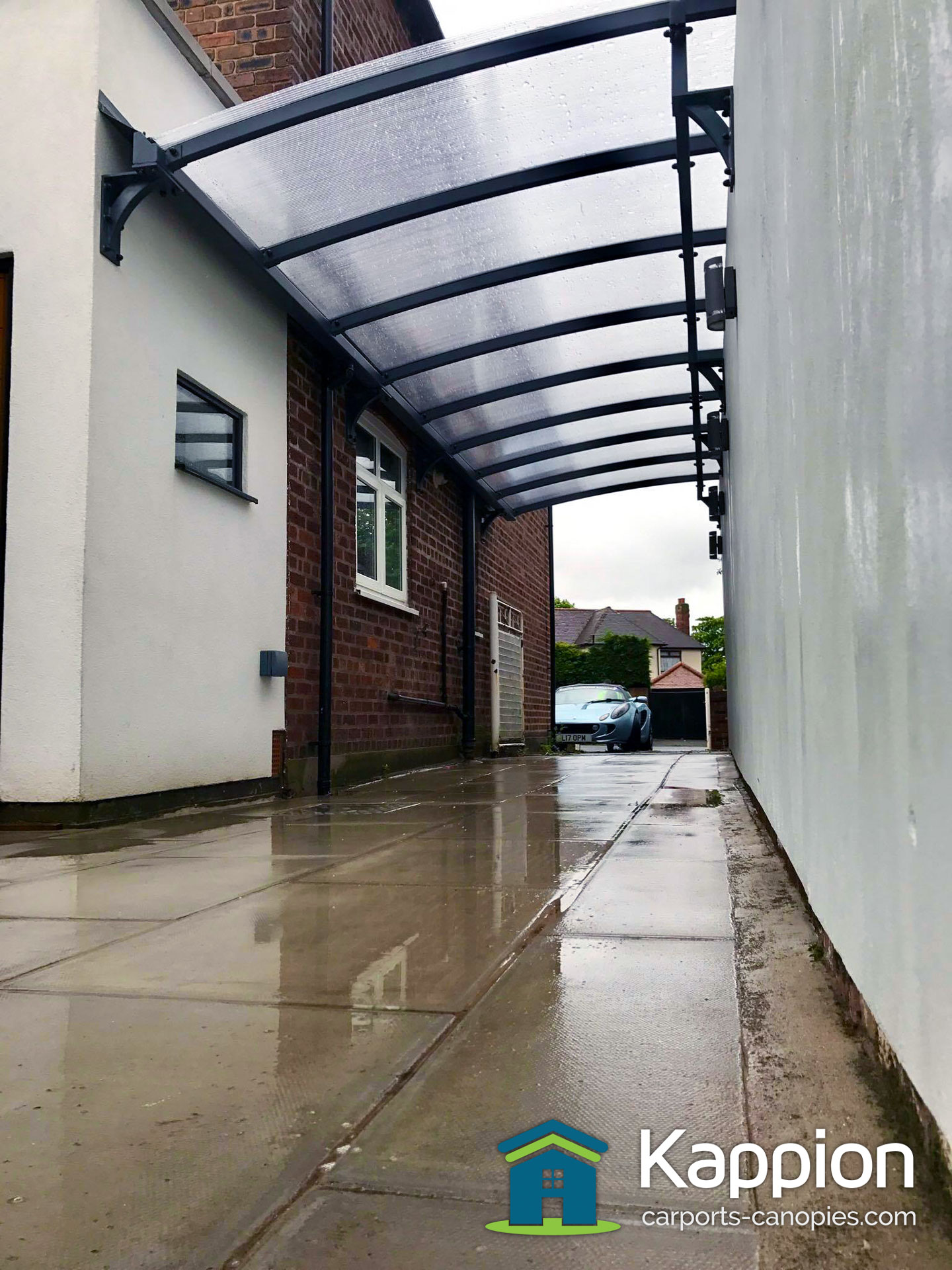 Wall Attached Carports : Wall attached carport installed in liverpool kappion
