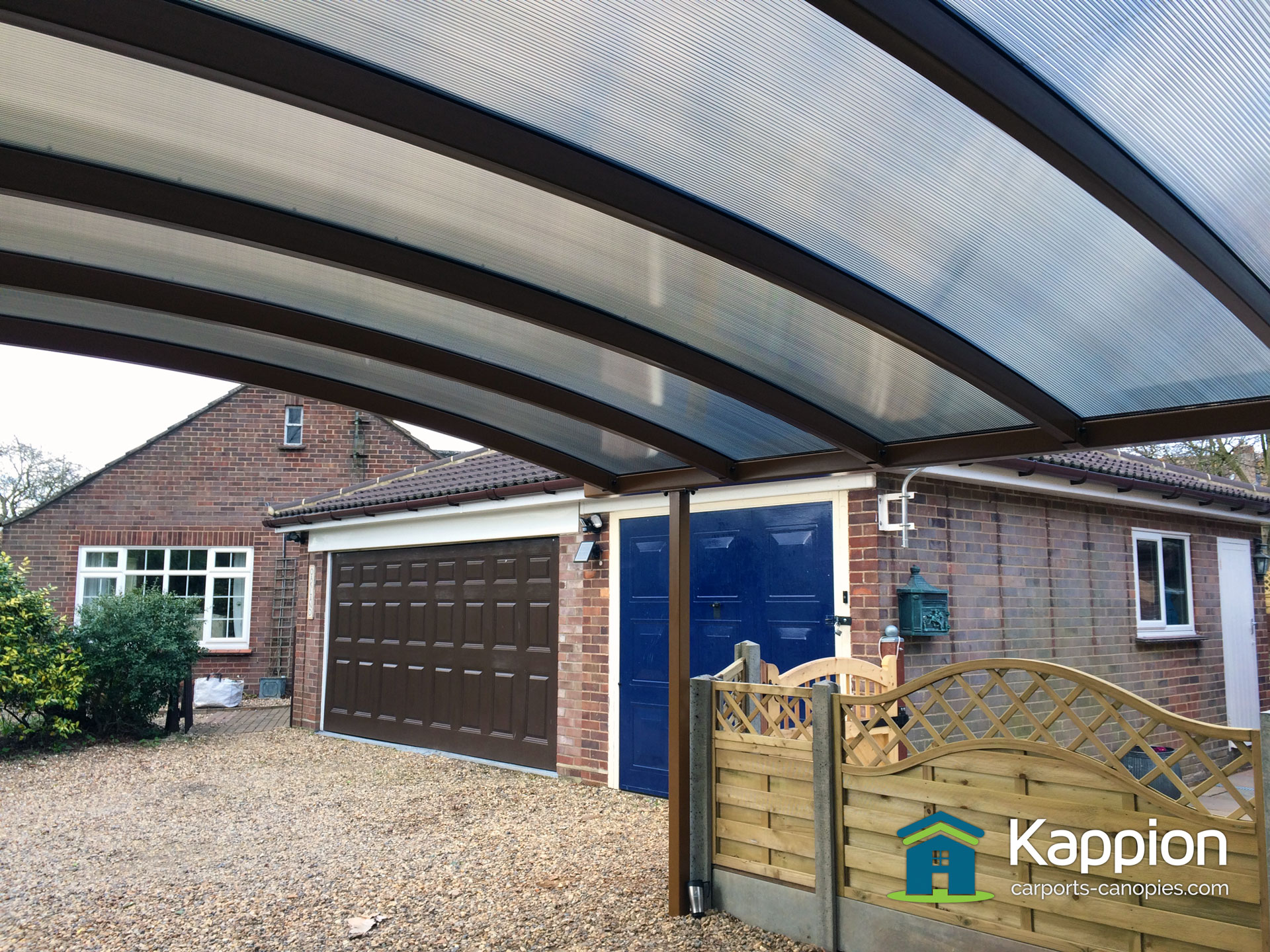 double carport installed in essex kappion carports canopies. Black Bedroom Furniture Sets. Home Design Ideas