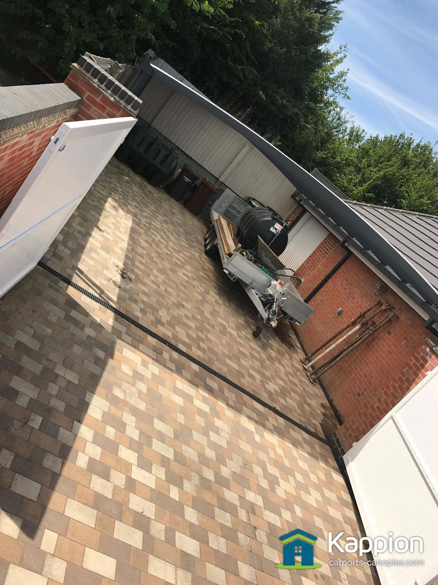 Garage Attached Double Carport/Work Area Installed in ...