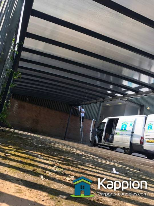 Canopies And Storage : Commercial storage canopy installed in coventry kappion