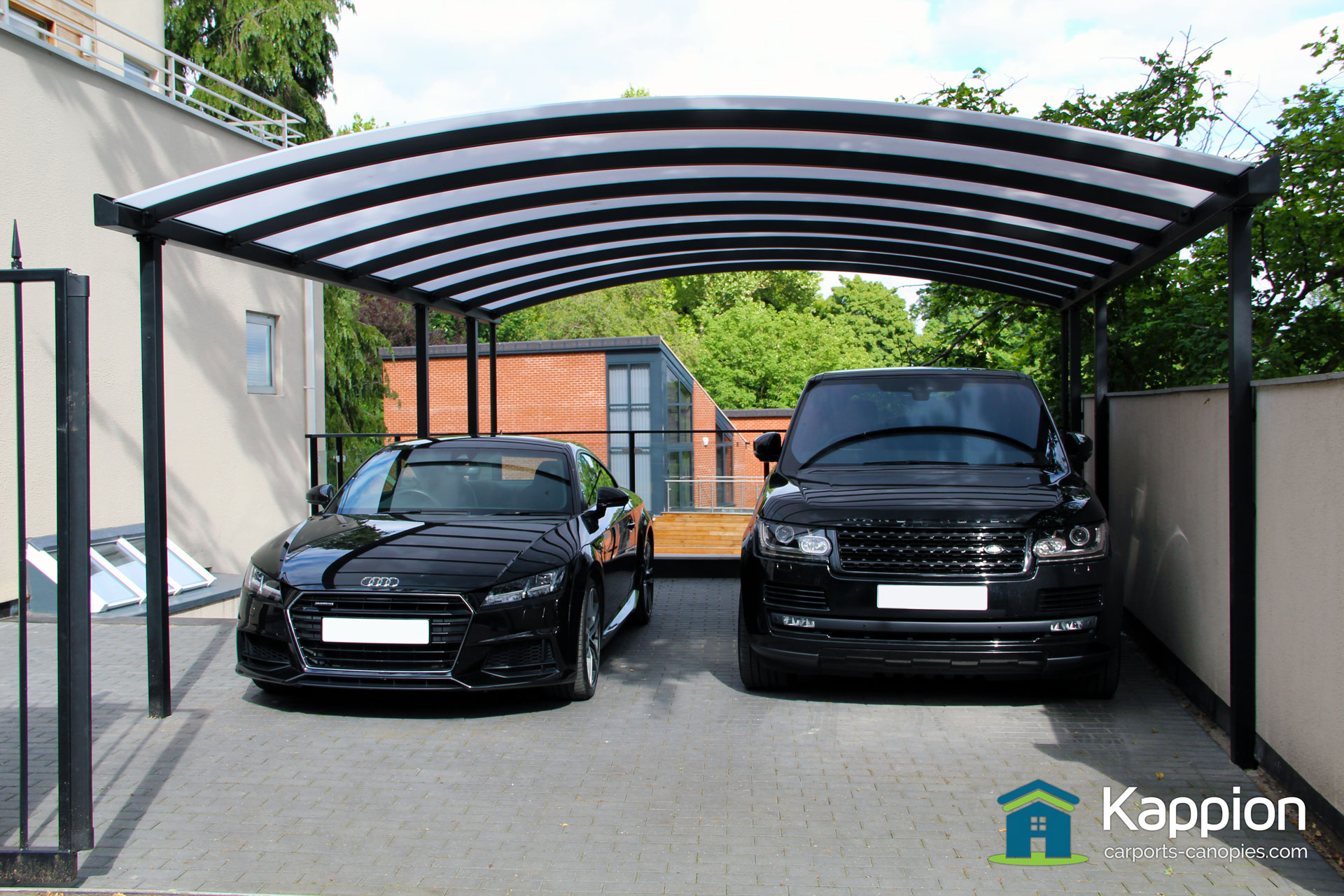 Modern Carport Canopy : Double carport installed in nottingham kappion carports