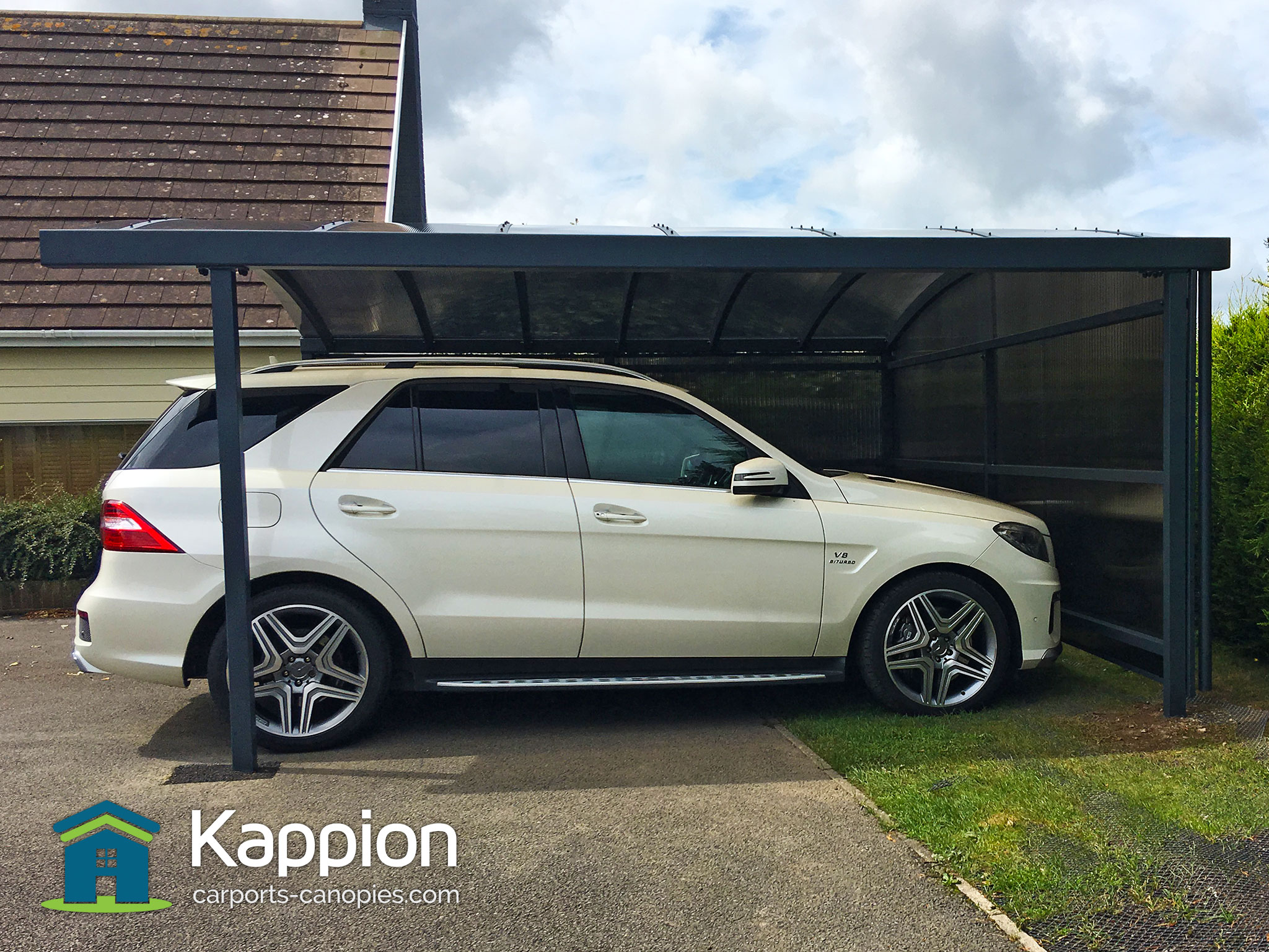 Enclosed Carports Car Canopies : Carport canopy installed in swansea kappion carports