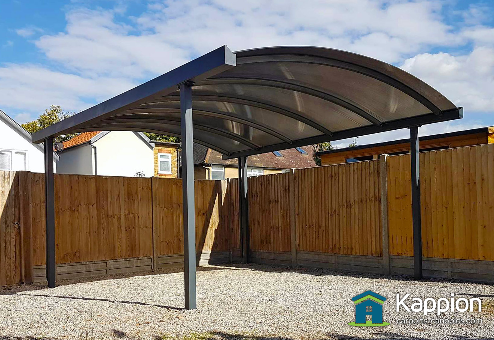 Carport installed in whitstable kappion carports canopies 1 car carport