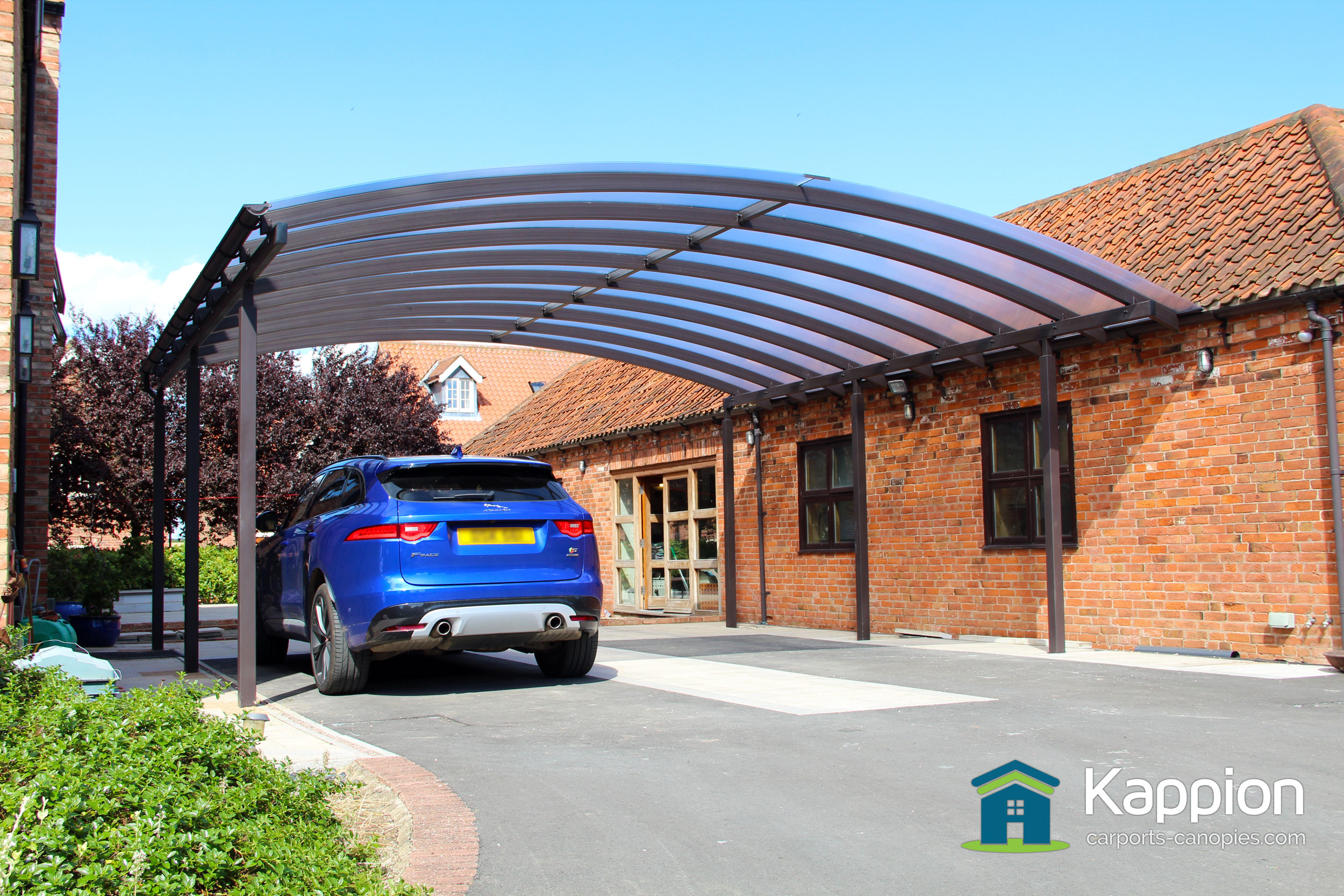 ultra wide carport canopy installed in newark kappion carports. Black Bedroom Furniture Sets. Home Design Ideas