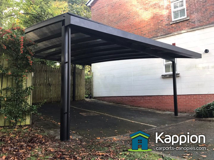 Double Carport Canopy Installed In Manchester Kappion
