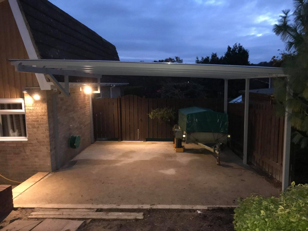A Contemporary Carport Installed In Hampshire