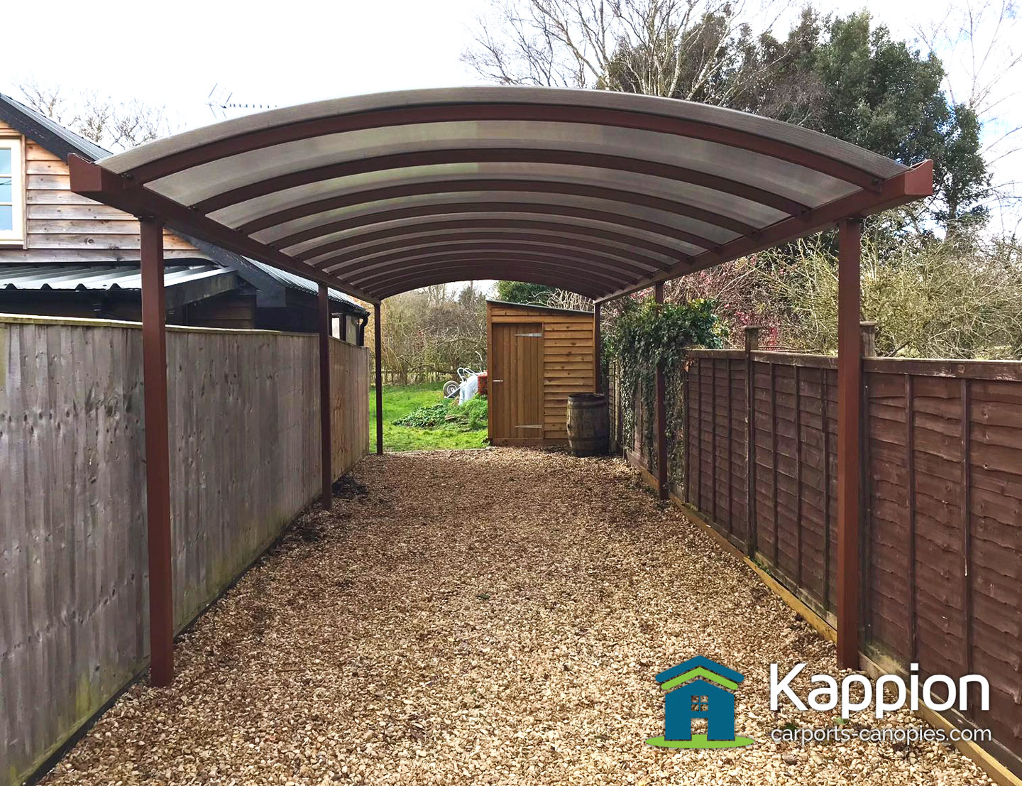 Nut Brown Carport