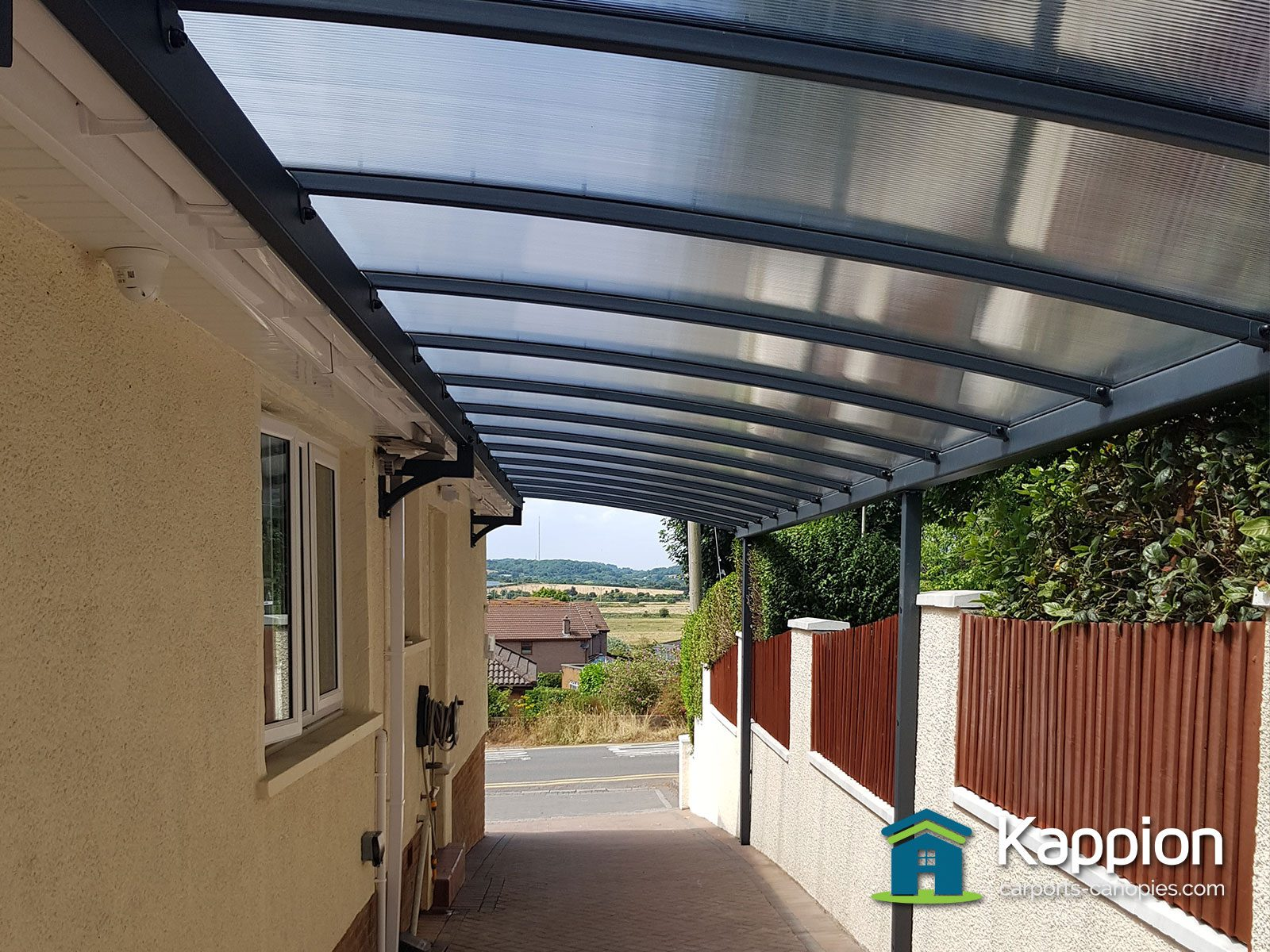 Long Walkway Canopy Installed In Penarth Kappion