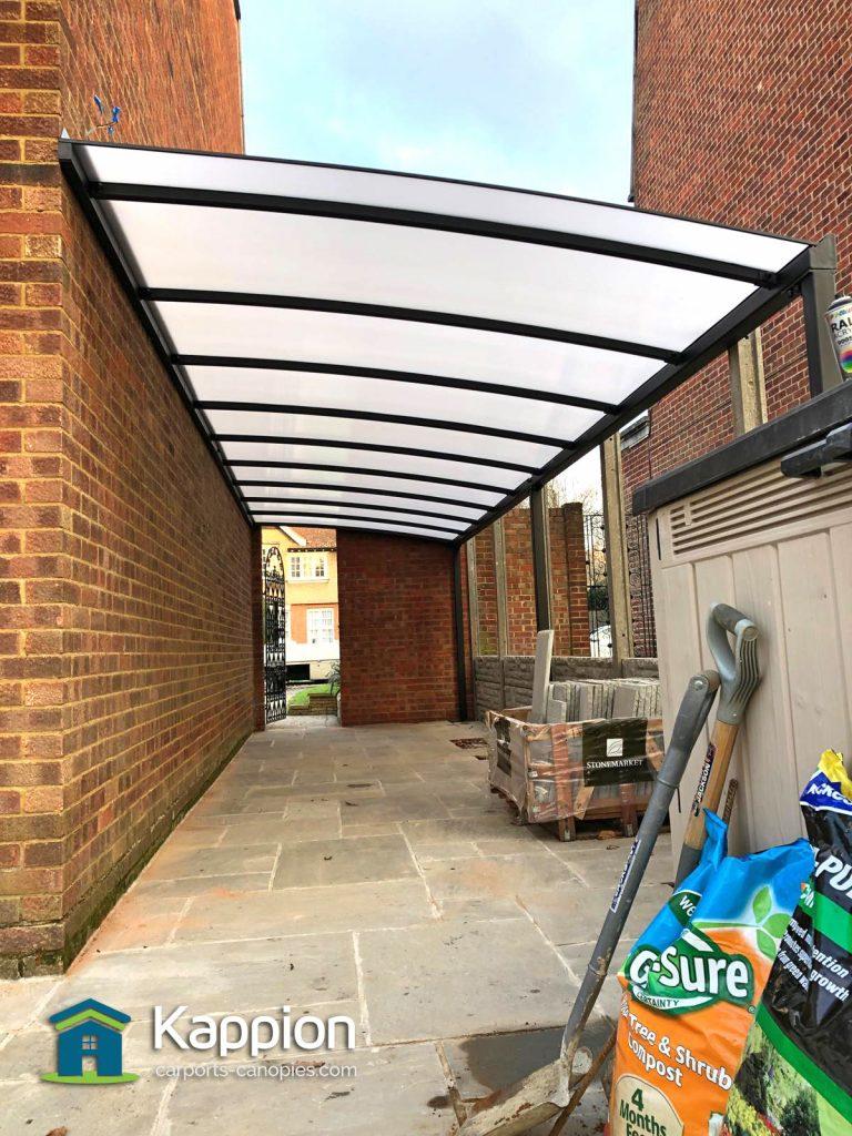 Walkway storage canopy